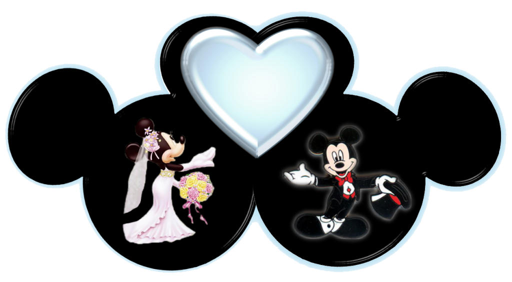 Mickey and Minnie marrage heart